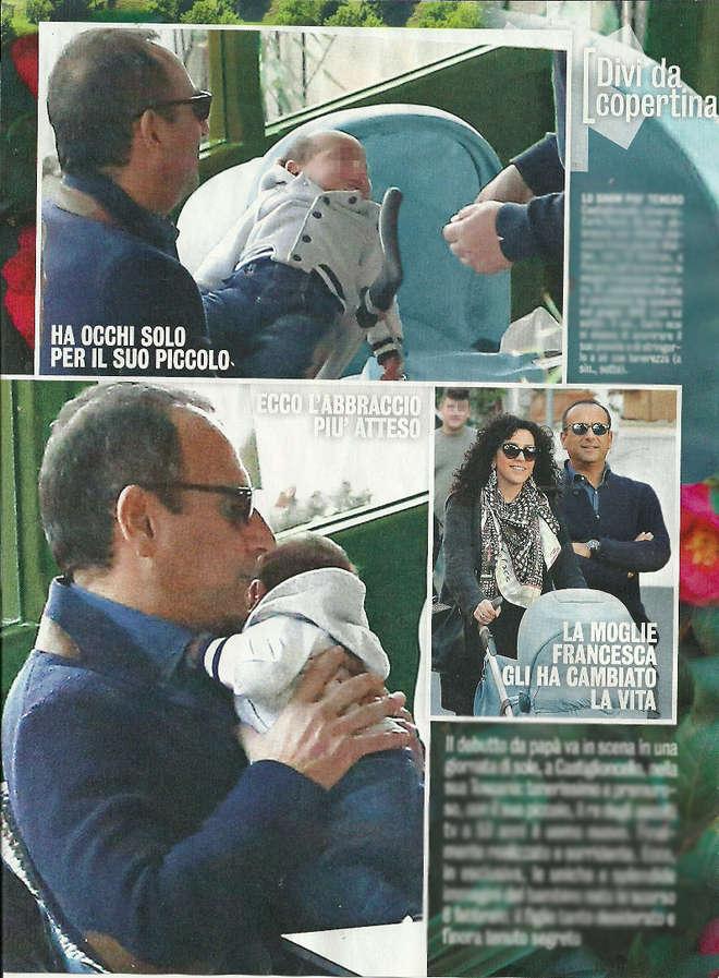 Carlo Conti papà al settimo cielo: le prime foto col figlio Matteo